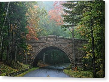 Stone Bridge Canvas Print by Mary Hershberger