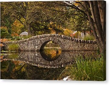 Stone Bridge Reflection Canvas Print by Graeme Knox