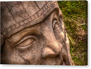 Canvas Print featuring the photograph Stone Face by Joetta West