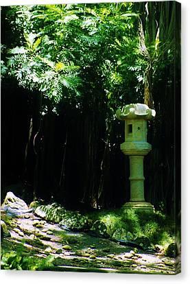 Ishidoro Canvas Print - Stone Lantern by Craig Wood