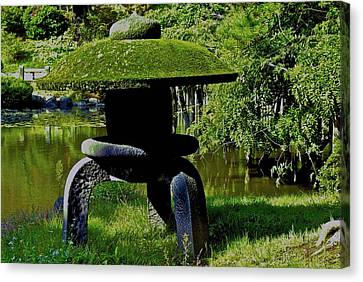 Canvas Print featuring the photograph Stone Lantern by Tim Ernst