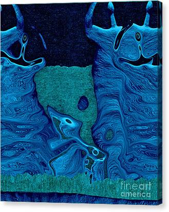 Stone Men 28c2b - Celebration Canvas Print by Variance Collections