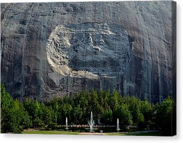 Stone Mountain   The Carving Canvas Print by George Bostian