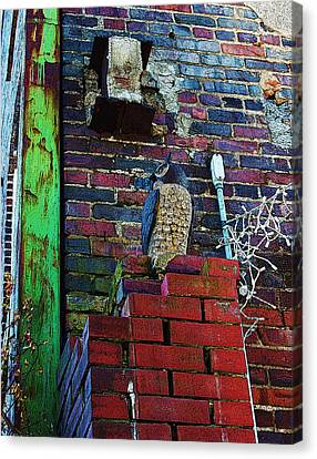 Canvas Print featuring the photograph Stone Owl by Bob Whitt