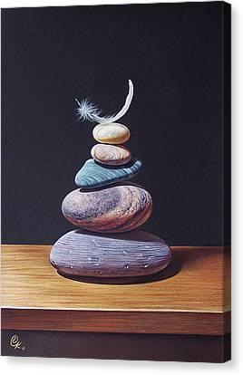Stone Tower 1 Canvas Print by Elena Kolotusha