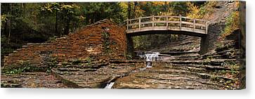 Stone Walls And Wooden Bridges Canvas Print by Joshua House