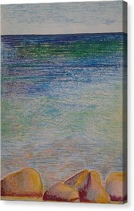 Stones By The Sea Canvas Print by Taruna Rettinger