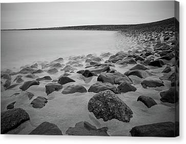 Stones In North Sea In Germany Canvas Print