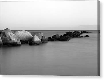 Stones In The Sea 4 Canvas Print by Falko Follert