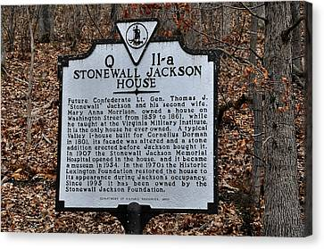 Stonewall Jackson House Canvas Print by Todd Hostetter
