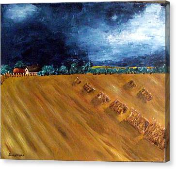 Stooks At Winkleigh Canvas Print