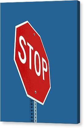 Stop Sign Canvas Print by Glennis Siverson