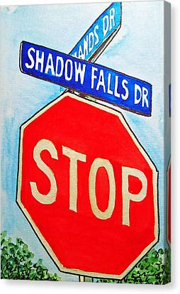 Stop Sign Sketchbook Project Down My Street Canvas Print by Irina Sztukowski