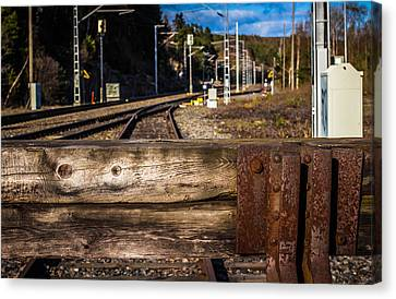Canvas Print featuring the photograph Stoppage by Matti Ollikainen