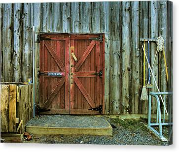 Storage Shed Canvas Print by Steven Ainsworth