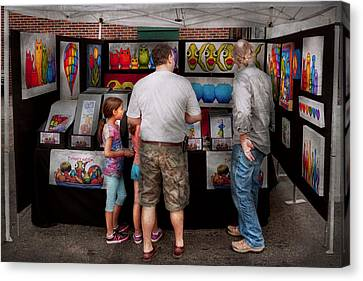 Store Front - Artist - Puppy Love  Canvas Print by Mike Savad