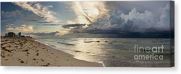 Storm Approaches Miami Beach Canvas Print by Matt Tilghman