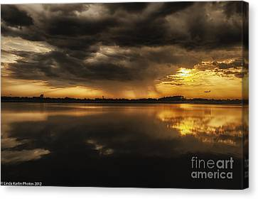 Canvas Print featuring the photograph Storm Approaching by Linda Karlin