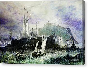 Ports Canvas Print - Storm At Scarborough by Lianne Schneider