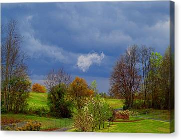 Canvas Print featuring the photograph Storm Cell by Kathryn Meyer