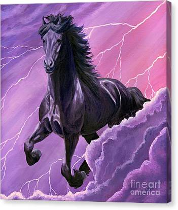 Canvas Print featuring the painting Storm Chaser by Sheri Gordon