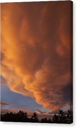 Storm Cloud At Sunset Colorado Canvas Print