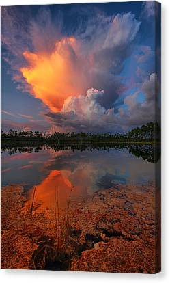 Storm Clouds At Dawn Canvas Print by Claudia Domenig