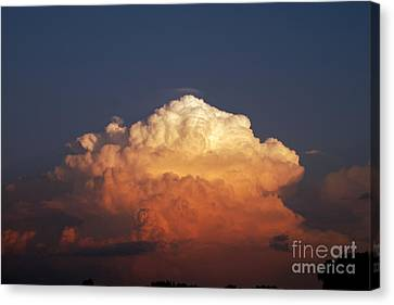 Canvas Print featuring the photograph Storm Clouds At Sunset by Mark Dodd