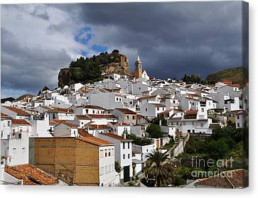 Storm Clouds Over Ardales Spain Canvas Print by Mary Machare