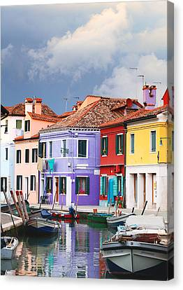 Storm Clouds Over Burano Canvas Print by Paul Cowan
