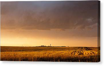 Canvas Print featuring the photograph Storm Clouds Over Dia by Monte Stevens