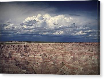 Storm Clouds Over The Badlands National Park Canvas Print
