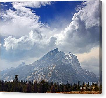 Storm Clouds Over The Grand Tetons Canvas Print
