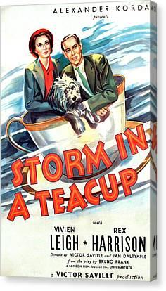 Storm In A Teacup, Vivien Leigh, Rex Canvas Print by Everett