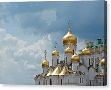 Storm In Russia Canvas Print by Boris SV