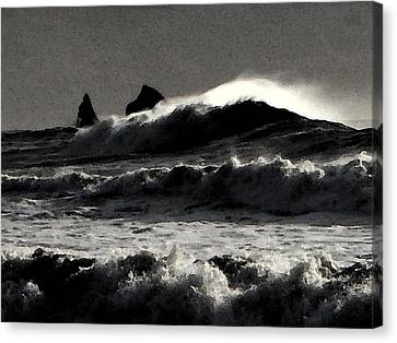 Storm Canvas Print by Laurie Stewart