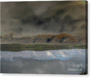 Storm On Land Canvas Print