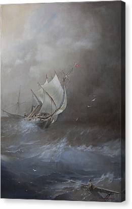 Storm On The Arctic Ocean Canvas Print by Oleg Gorovoy