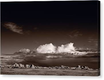 Storm Over Badlands Canvas Print by Steve Gadomski