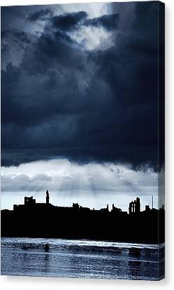 Storm Over City, Tyne And Wear, England Canvas Print by John Short