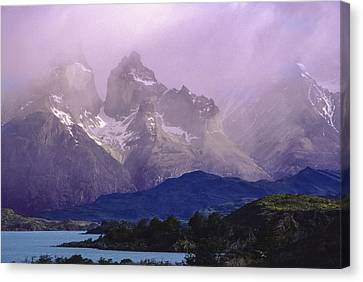 Storm Over Torres Del Paine Patagonia Canvas Print