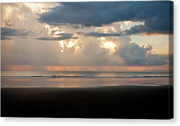 Jaco Canvas Print - Storm Sunset by Anthony Doudt