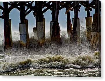 Storm Surge Canvas Print by Nancie Rowan