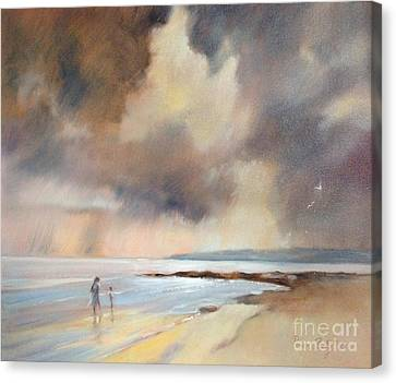 Storm Watchers Canvas Print by Pamela Pretty