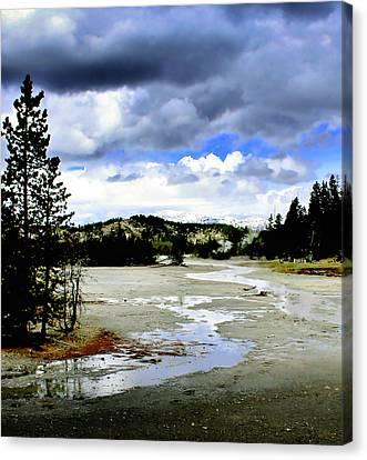 Stormclouds Over Norris Basin Canvas Print by Ellen Heaverlo