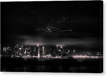 Storming Into The Night Canvas Print by David Hahn