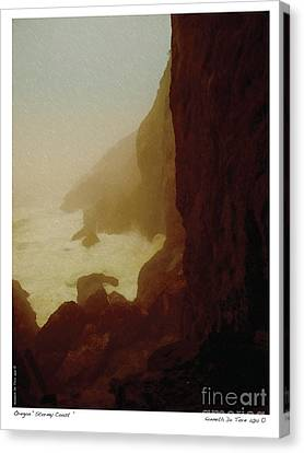 Canvas Print featuring the photograph Stormy Coast by Kenneth De Tore