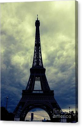 Stormy Day In Paris Canvas Print by Carol Groenen