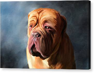 Stormy Dogue Canvas Print by Michelle Wrighton