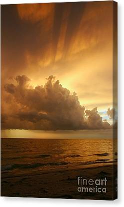 Stormy Gulf Coast Sunset Canvas Print by Matt Tilghman